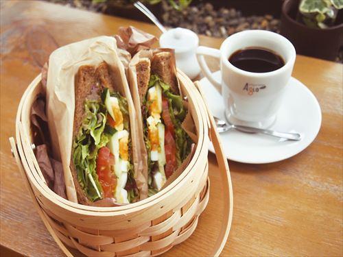 野菜サンドモーニングランチ