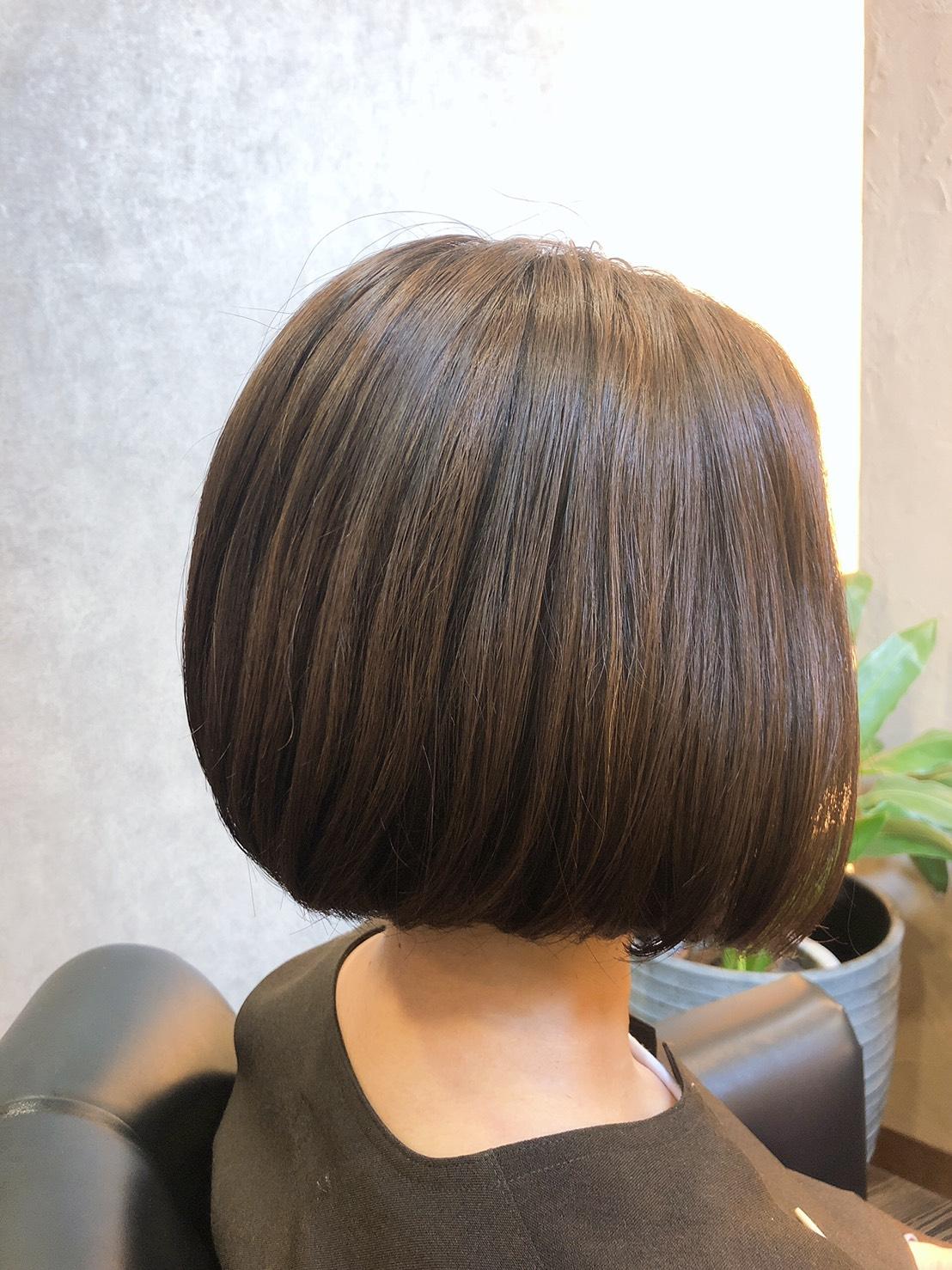 髪型ボブ福山